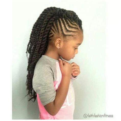 kids cornroll stiles for 2015 braids with twisted mohawk ponytail braids pinterest