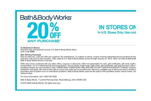 coupons for bath and body works june 2018