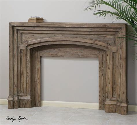 avrigo rustic fireplace mantel