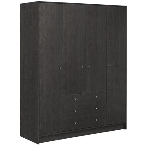 3 Door Wardrobe Argos by Buy Home New Malibu 4 Door 3 Drawer Wardrobe Black Oak