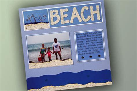 scrapbook layout beach the beach scrapbook layout favecrafts com