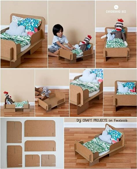 how to make a doll bed diy cardboard doll bed kids cardboard creations