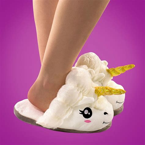 plush slippers for adults unicorn plush slippers size 7 10 5 apparel unisex