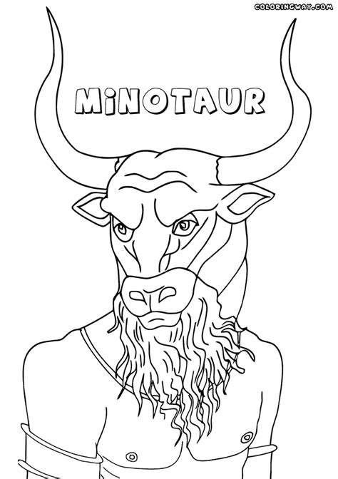 Minotaur Coloring Pages Coloring Pages To Download And Print Minotaur Coloring Pages