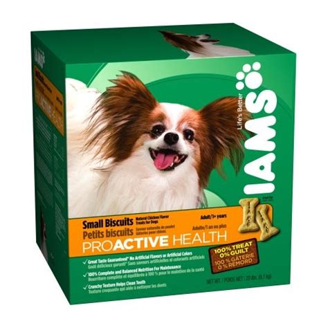 iams biscuits iams proactive health small biscuits chicken treats 20 lb jet