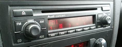 Audi Gamma Code Eingeben by Trouver Code Autoradio Audi A3