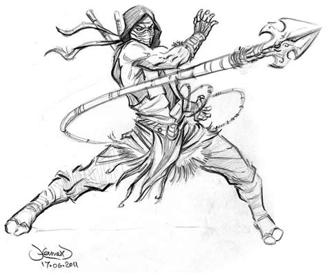 scorpion character coloring pages to print coloring pages