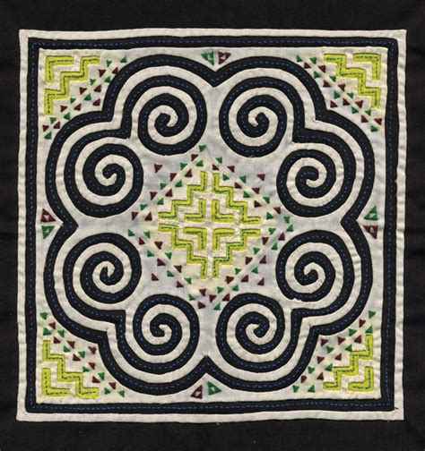 hmong pattern meaning hmong reverse applique by unknown artist 1980s 19x19 cm