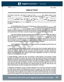 trust minutes template doc 460595 sle deed of trust form deed of trust
