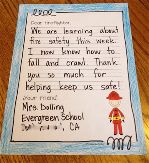 Thank You Letter Ideas For Teachers Safety Week Thank You Letter To Local Firefighters Free Template Top Teachers