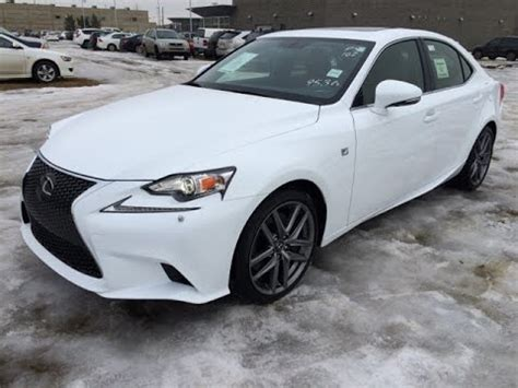 new ultra white on red 2015 lexus is 350 awd f sport
