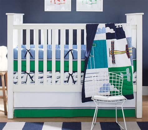 Pottery Barn Airplane Crib Bedding Airplane Nursery Bedding Thenurseries
