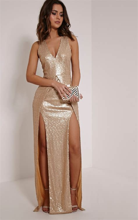 Maxy Is gold maxi dress dresscab