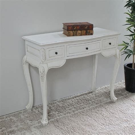 antique white carved vanity desk 3979 aw