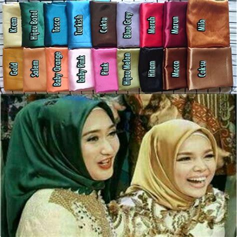Jilbab Segi Empat Warna Hijau jilbab pashmina segi empat satin terbaru 2017 bundaku net