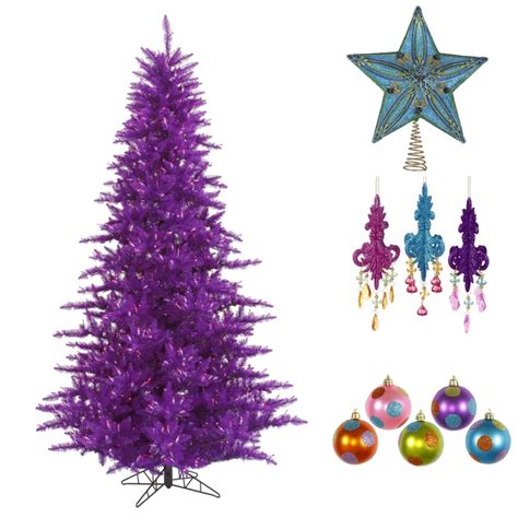 color trees how to decorate a purple tree northpoledecor