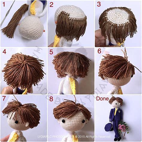 amigurumi hair my tutorial of hair for doll the