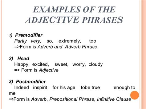 Structure Of Modification Adjective As by Adjective Phrase