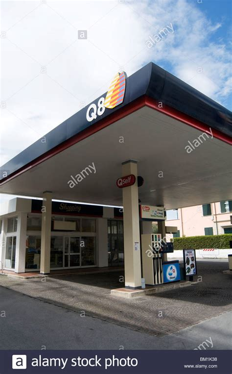 Garage Petrol Station q8 petrol station stations fuel garage company chain kuwait stock photo royalty free image