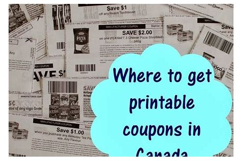 coupons websites canada