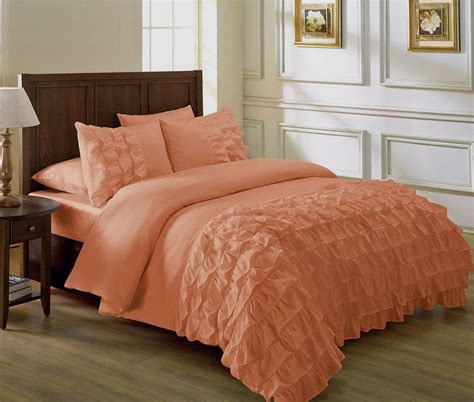 bedding and comforters total fab peach colored comforters bedding sets