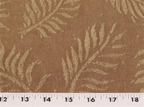 leaf pattern material 3 3 8 yards of fern leaf pattern upholstery fabric