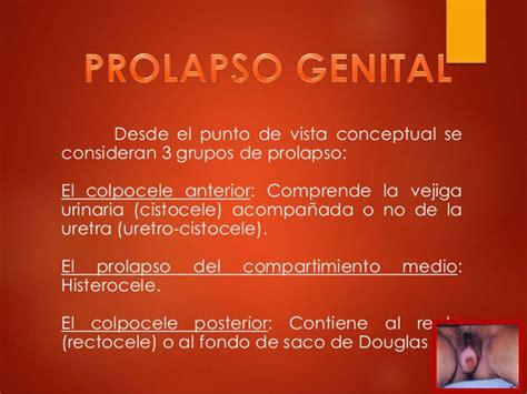 prolapso del utero prolapso genital harold y manuel