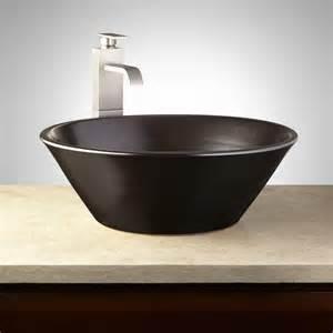 gray bathroom sink hillsdale glazed pottery vessel sink metallic gray