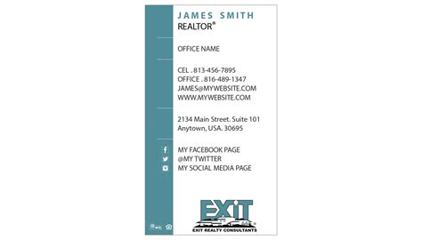 exit realty business cards template exit realty business card 10 exit realty business card