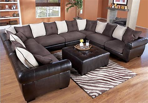 great living room furniture shop for a beckett chocolate mocha 8 pc sectional at rooms
