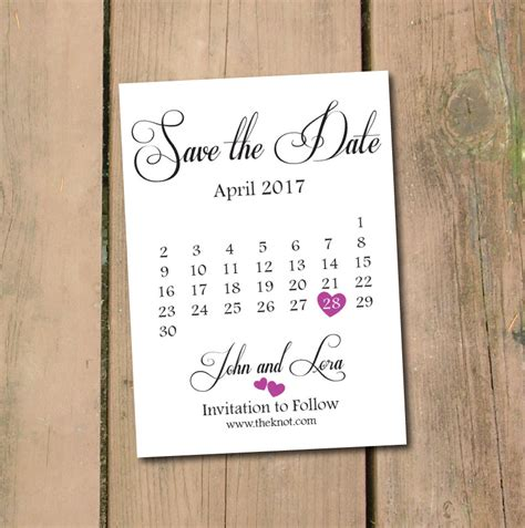 save the date calendar template save the date calendar template save the date postcard