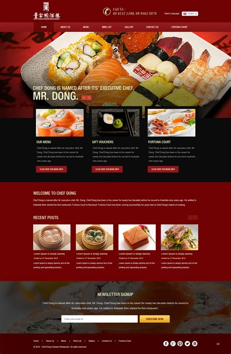 restaurant website layout design professional elegant web design for aqua it solutions by