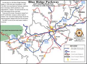 blue ridge parkway map with mile markers this map shows
