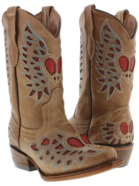 children s cowboy boots toddlers brown boots leather western