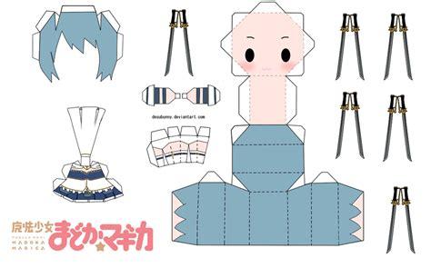 Chibi Papercraft - sayaka miki chibi papercraft by tsunyandere on deviantart