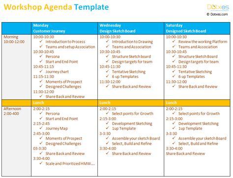 workshop agenda template    workshop