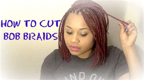 i cut my box braids and now the weave is comming loose how to cut bob braids red bob braids youtube