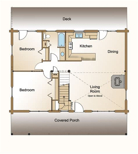 Log Cabin Open Floor Plans small house floor plans this for all