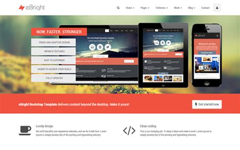 bootstrap themes free sign up ebright bootstrap template bootstrap responsive themes