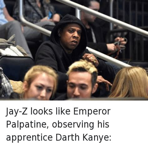 Kanye And Jay Z Meme - jay z looks like emperor palpatine observing his apprentice darth kanye jay z looks like emperor