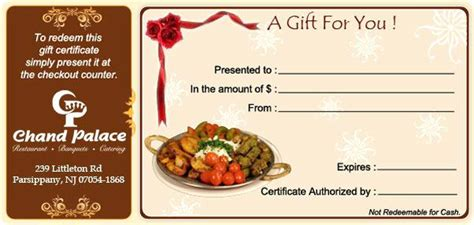 Food Gift Certificate Template Voucher Vector Illustration Ideas T Crugnalebakery Co Meal Gift Certificate Template