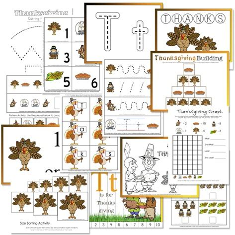 kindergarten activities for thanksgiving 7 best images of thanksgiving preschool printables sheets