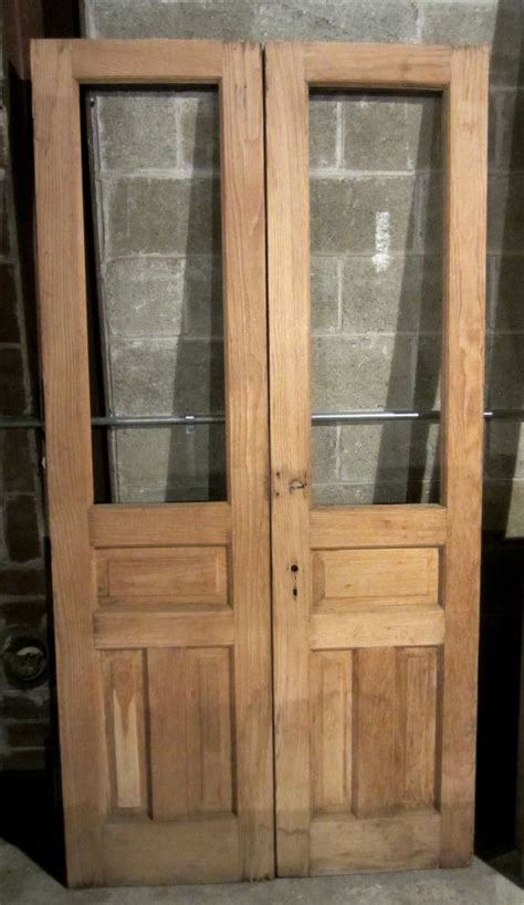 Nice Set Of Antique Chestnut Double French Doors Reclaimed Exterior Doors