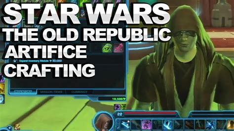 tutorial old republic star wars the old republic artifice crafting tutorial