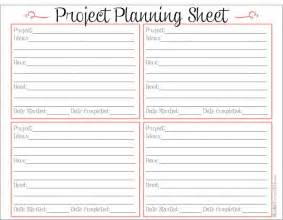 5 best images of printable project planner template free