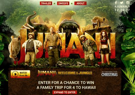 Sweepstakes Hawaii - jumanji hawaii sweepstakes enter online sweeps howldb