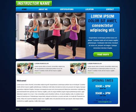 Free Fitness Website Template Free Fitness Templates Phpjabbers Free Fitness Website Templates