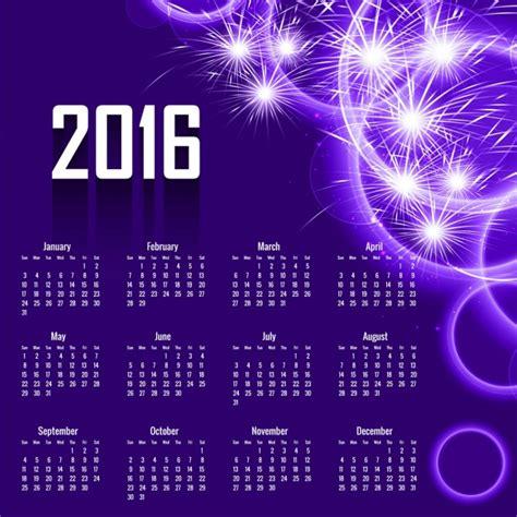 Calendario Colo Abstract 2016 Calendar Design In Purple Color Vector