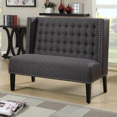 aline upholstered banquette bench 1000 ideas about banquette bench on