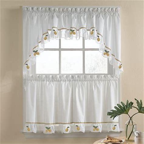 lemon curtains lemon kitchen curtains citrus pinterest lemon